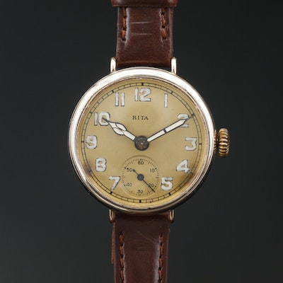 "Helbros-Swiss ""Rita"" Gold Filled Convertible Wristwatch"