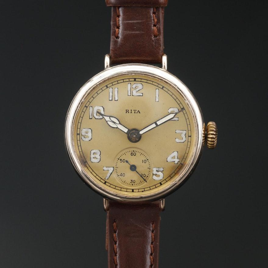 """Helbros-Swiss """"Rita"""" Gold Filled Convertible Wristwatch"""