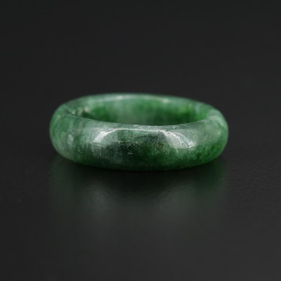 Carved Jadeite Hololith Band