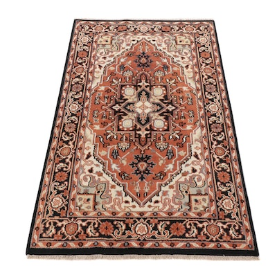 5' x 8'2 Hand-Knotted Indo-Persian Heriz Rug, 2010s