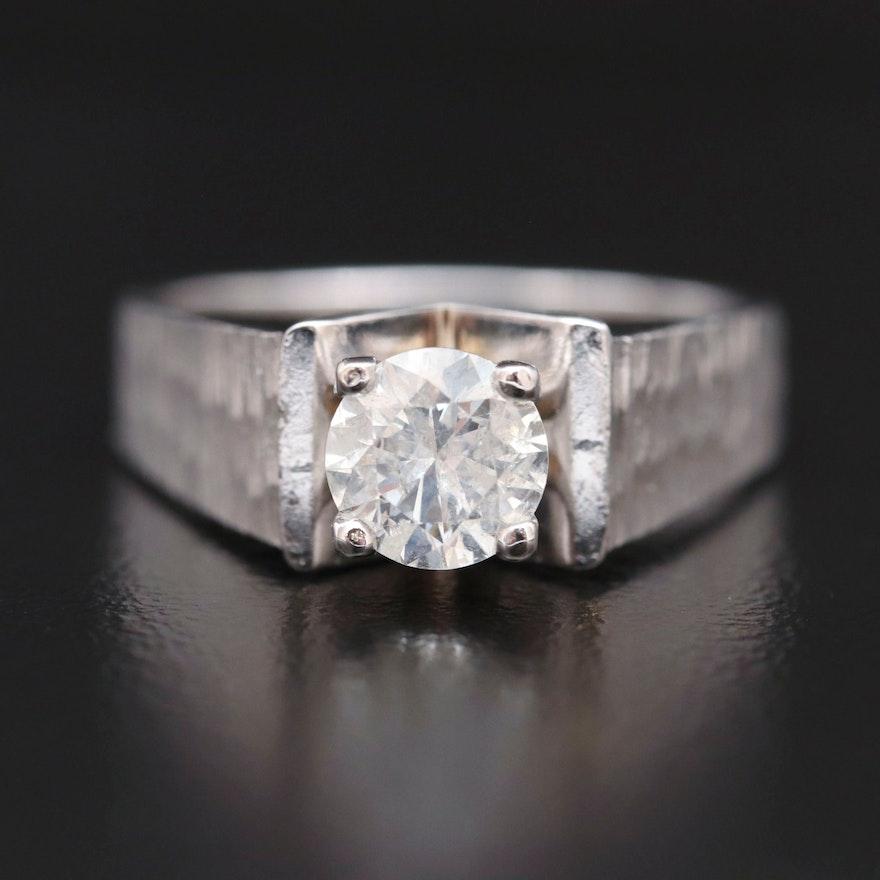 14K Gold 0.96 CT Diamond Ring