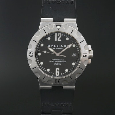 "BVLGARI ""Automatic"" Chronometer Stainless Steel Wristwatch"