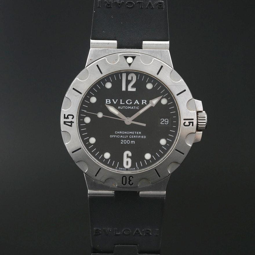 "BVLGARI ""Automatic"" Chronometer Stainless Steel Wristwatch"