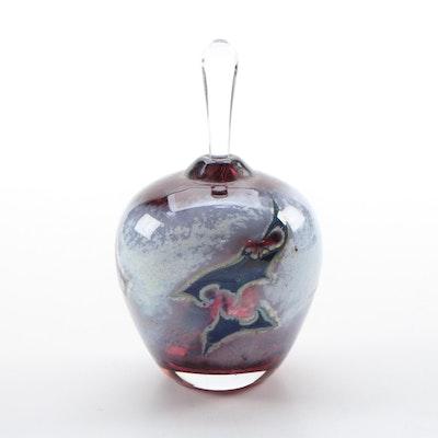 Lopez Fulker for Maytum Studio Handblown Art Glass Perfume Bottle, 1996