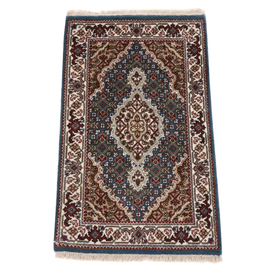 1'11 x 3'4 Fine Hand-Knotted Indo-Persian Tabriz Wool Blend Rug, 2010s