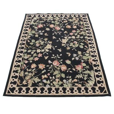 6' x 9' Handmade Persian Sahan Needlepoint Wool Rug