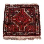 2'2 x 2'2 Hand-Knotted Persian Kurdish Village Rug, 1960s