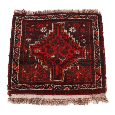 2'2 x 2'2 Hand-Knotted Persian Kurdish Village Rug, 1960s