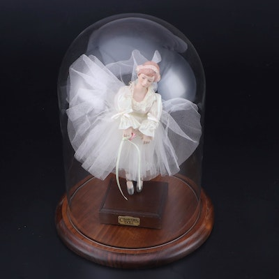 """Yesteryear Today and Thereafter"" Collectible Porcelain Doll in Glass Case"