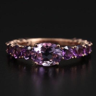 EFFY 14K Rose Gold Amethyst Ring