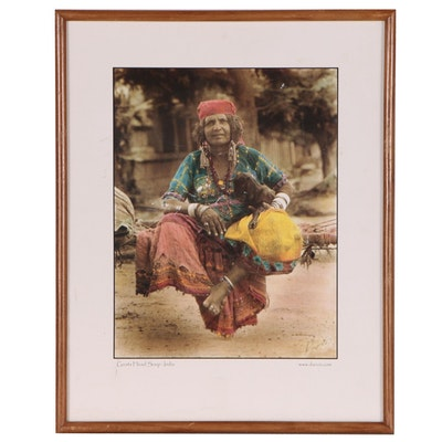 """Offset Lithograph """"Goat Head Soup: India,"""" Late 20th to 21st Century"""
