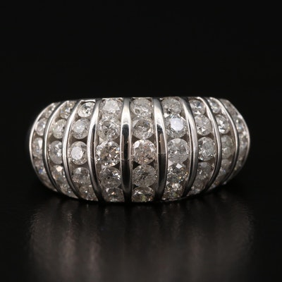 14K White Gold 2.02 CTW Diamond Multi-Row Ring