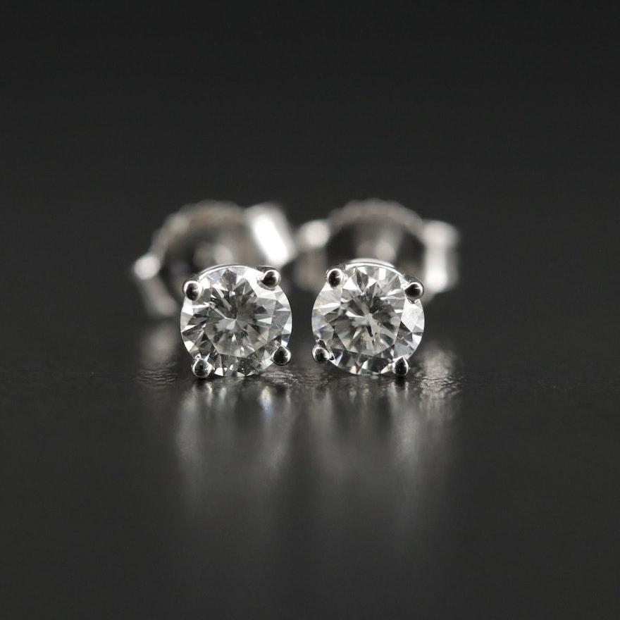 14K Gold 0.44 CTW Diamond Stud Earrings