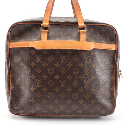 Louis Vuitton Porte Documents Pegase in Monogram Canvas and Vachetta Leather