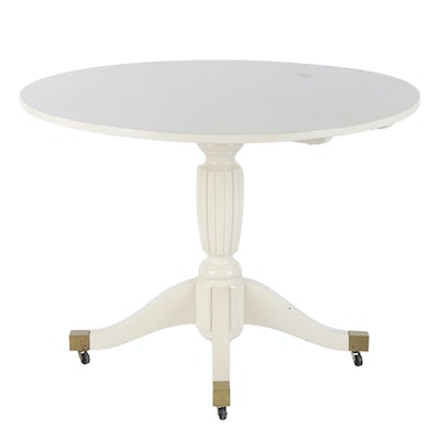 Contemporary Painted Wood Pedestal Dinette Table