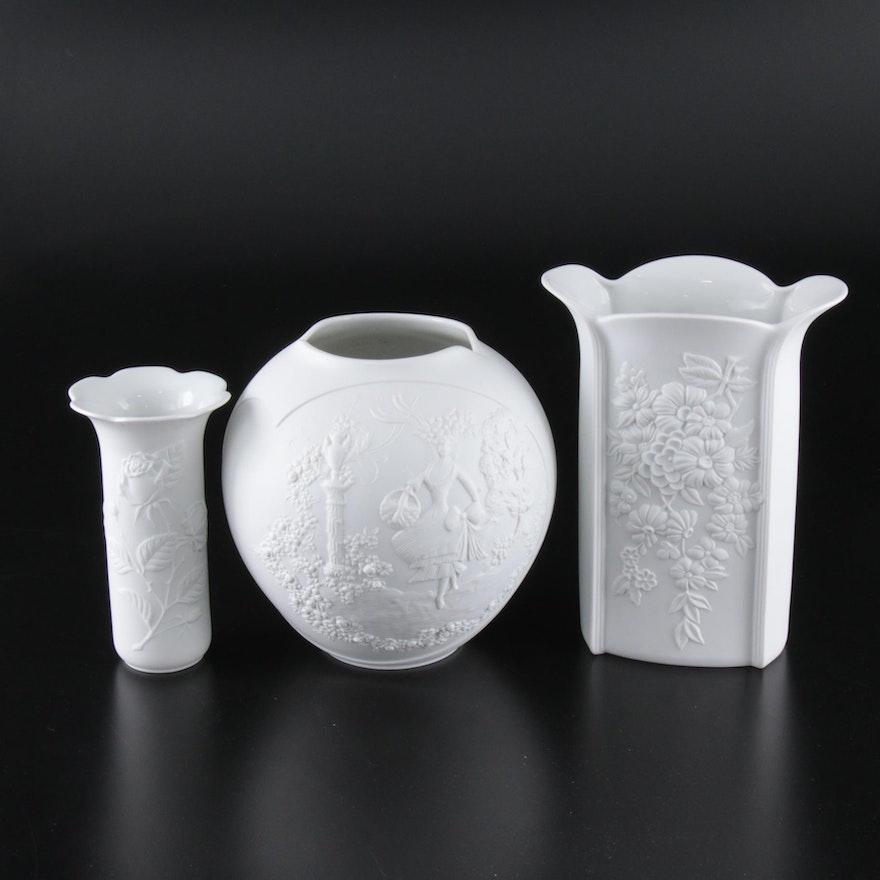 Kaiser M.Frey West German Porcelain Vases