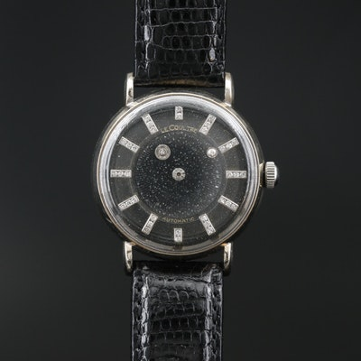 LeCoultre Galaxy Mystery Diamond Dial and 14K Gold Automatic Wristwatch