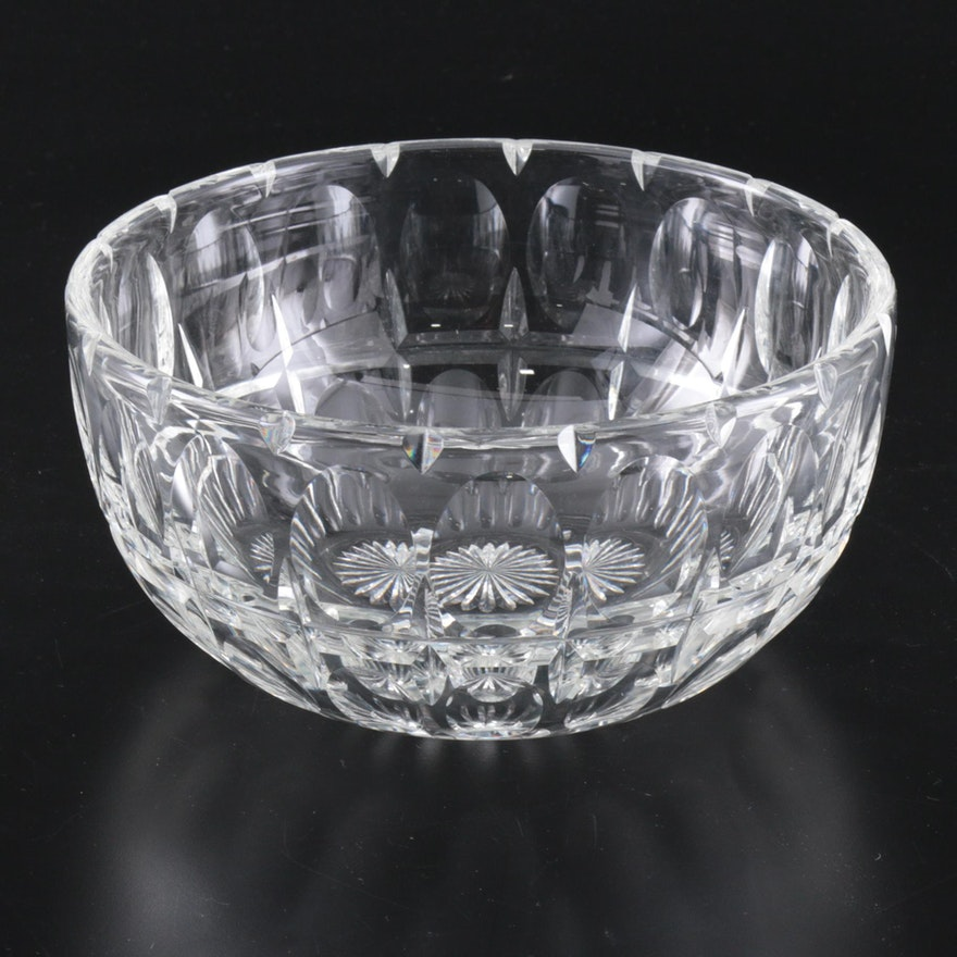 Cut Crystal Bowl Attributed to Frederick Carder, 21st Century