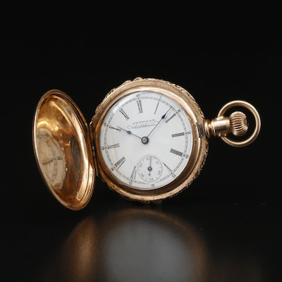 1891 Waltham Gold Filled Hunting Case Pocket Watch