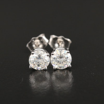 14K Gold Moissanite Stud Earrings