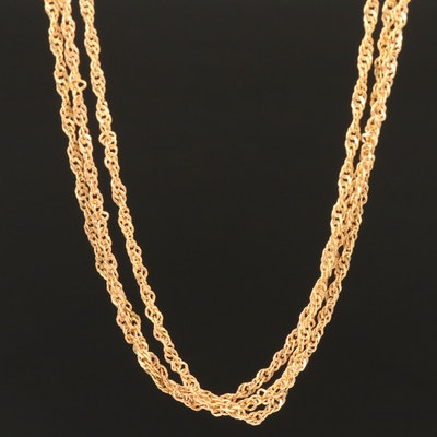 Milor 18K Triple-Strand Singapore Chain Necklace