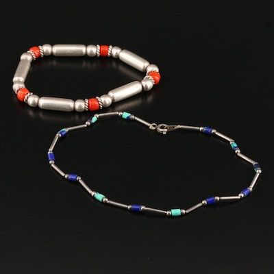Western Style Beaded Bracelets Including Sterling Silver
