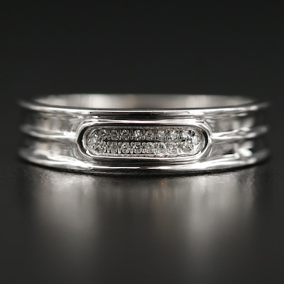 14K Gold and Diamond Band