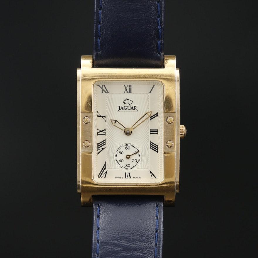 Jaguar Tank Style Gold Tone Quartz Wristwatch