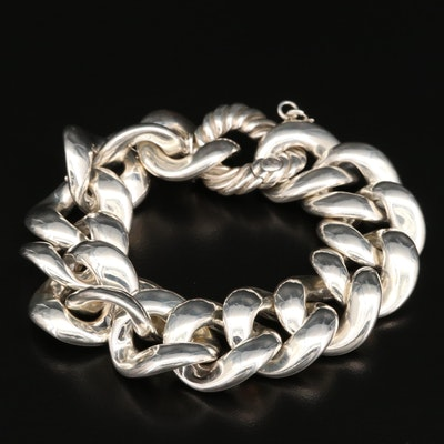 David Yurman Sterling Silver Curb Link Bracelet