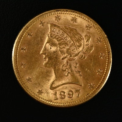 1897 Liberty Head $10 Gold Eagle Coin