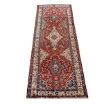 3'6 x 10' Hand-Knotted Persian Malayer Rug Runner, 1970s