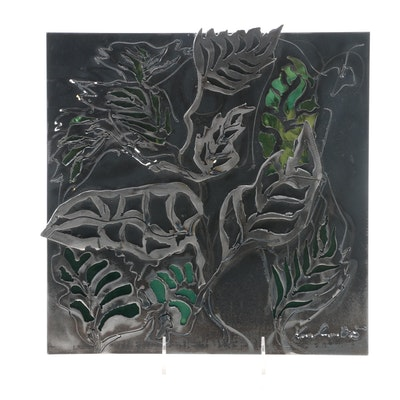 Esther Kirshenbaum Modernist Foliate Metal Wall Decor, 2005