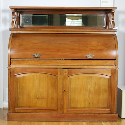 Victorian Cylinder Desk, Late 19th Century
