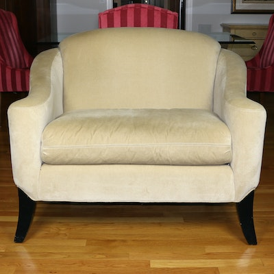 Kravet Furniture Felt Upholstered Over-Sized Armchair