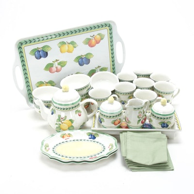 "Villeroy & Boch ""French Garden Fleurence"" Porcelain Tea Set and Serveware"