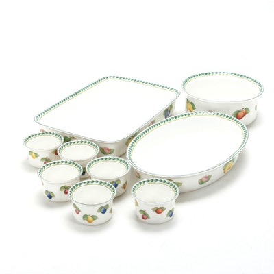 "Villeroy & Boch ""French Garden"" Porcelain Bakeware"