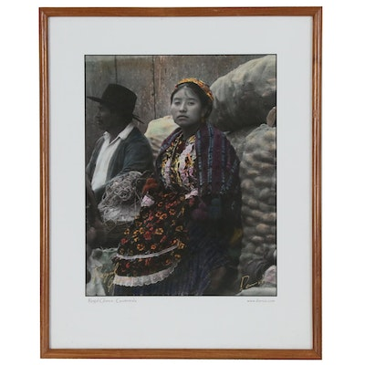 """Offset Lithograph """"Regal Glance: Guatemala,"""" Late 20th to 21st Century"""