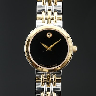Movado Museum Two-Tone Stainless Steel Quartz Wristwatch