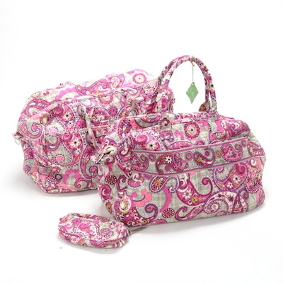 """Vera Bradley """"Paisley Meets Plaid"""" Quilted Weekender Bags and Pouch"""