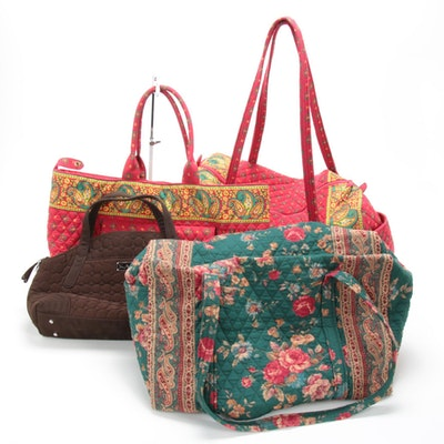 Vera Bradley Quilted Fabric Duffel Bags, Tote and Shoulder Bag