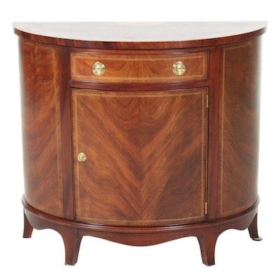 Henkel-Harris Empire Style Mahogany Demilune Table, Late 20th Century