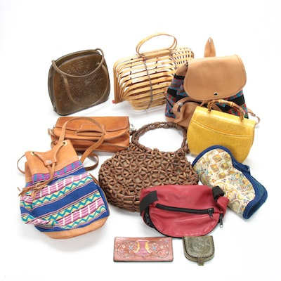Tooled Leather, Embossed Leather, Bent Wood, Beaded and Other Handbags