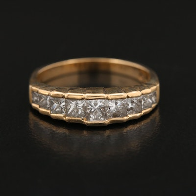 14K 1.07 CTW Diamond Stepped Ring
