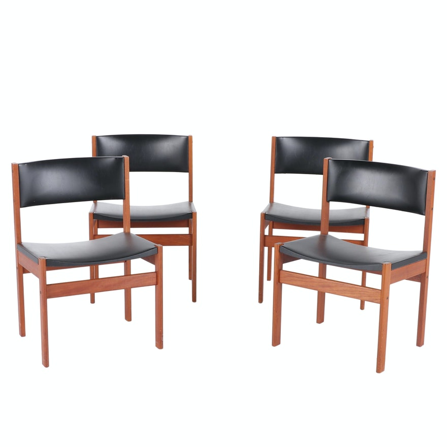 Four GP Farum Danish Mid-Century Modern Teak Side Chairs, circa 1960