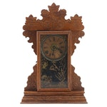 The Sessions Clock Co. Pressed Oak Victorian Kitchen Clock