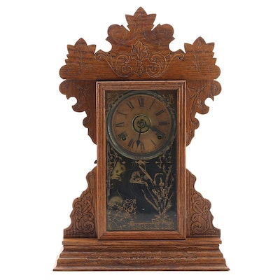 The Sessions Clock Co. Pressed Oak Victorian Kitchen Clock
