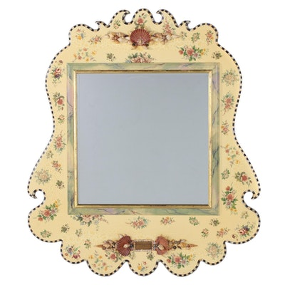 """MacKenzie-Childs """"Belvedere"""" Parcel-Gilt and Shell-Mounted Wall Mirror"""