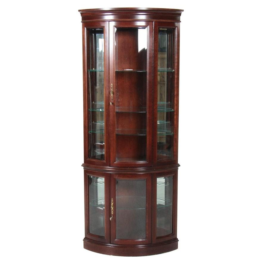 Jasper Cabinet Company Mahogany Illuminated Curio Cabinet