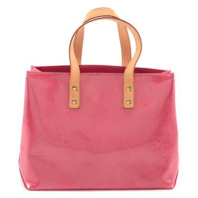 Louis Vuitton Reade PM in Framboise Monogram Vernis and Vachetta Leather