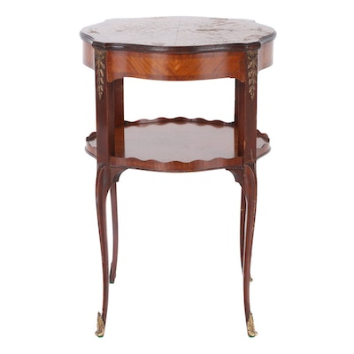 Louis XV Style Walnut Occasional Table with Ormolu Detailing, Late 20th Century